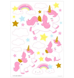 A Little Lovely Company Duvar Sticker, Unicorn Tablolar