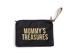Mommy Treasures Siyah & Gold Clutch