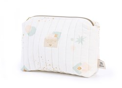 Nobodinoz Travel Mini Bag Aqua Eclipse/White Anne Çantası