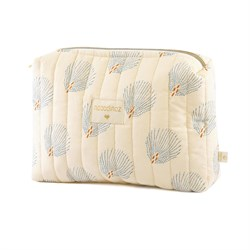 Nobodinoz Travel Mini Bag Blue Gatsby/Cream Anne Çantası